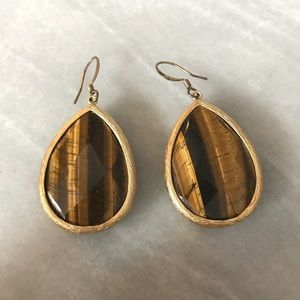 Gorgeous golden tiger eye drop earrings.